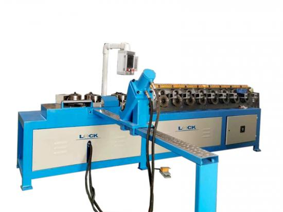 Round angle iron punching machine